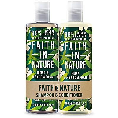 Hemp & Meadowfoam Doppelpack Shampoo & Conditioner