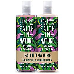 Lavender & Geranium Doppelpack Shampoo & Conditioner